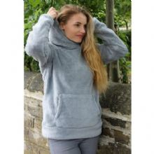 HARRY HALL GREY HALTON SNUGGLY FLEECE HOODY - RRP £29.99